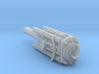 US 16in Model E Railway cannon - barrel assy 1/72 3d printed