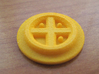 Catan Pieces - Orange City And Knights 3d printed Knight deactivation token