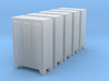 N Scale 5x Lockers 3d printed