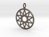 Simple decagram necklace 3d printed