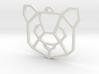Geometric Panda Pendant 3d printed
