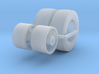 1/87 Dayton Front Floater Wheels and tires 3d printed
