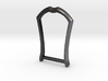 """1.25"""" Long Buckle Frame, Accented - STEEL 3d printed"""