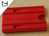 Business card case 3d printed Coral Red Strong & Flexible