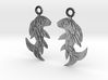 Shard Fish Earrings (Embossed) 3d printed
