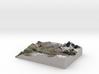 """Matterhorn / Monte Cervino Map: 8.5""""x11"""" (21x27 cm 3d printed"""
