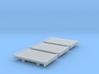 8ft Narrow Gauge Flat Wagon (x3) 3d printed