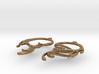 Melting Curl Earrings 3d printed