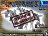 1/160 US Navy AA M Gun Pedestal Mount 3d printed