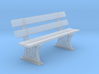 GWR Bench 4mm scale 00 6ft 3d printed
