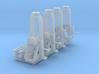 4 Hebeböcke mit 2 Träger (TT 1:120) 3d printed