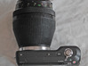 Zenza Bronica ETR To Sony E-mount 3d printed first prototype fitted on camera