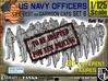 1-125 USN Officers KAPOK Set6 3d printed