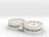Two 1/16 Early T34 Steel Wheels 3d printed