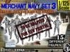 1-125 Merchant Navy Set 3 3d printed