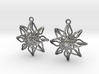 Change Flower Earrings 3d printed