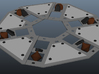 Otc Sheet5 3d printed Center disk assembly