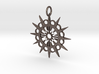 Abstract Patterned Circle Stylized Sun Pendant 3d printed