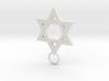 Star of David 2mm 3d printed