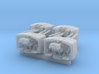 """1/500 4.7"""" MKXII CPXIX Twin Mount x4 3d printed 1/500 4.7"""" MKXII CPXIX Twin Mount x4"""