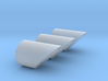 N Scale 3 Exhaust Pipes 3d printed