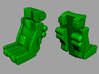 VF-1 Option Part; Battroid Access - 2 Seater 3d printed Seat (x2) Front & Rear Views