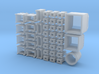 Diverse containers, oa glasbakken, papiercontainer 3d printed