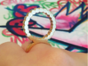 Double Ring Size 6 3d printed Mini Circle Design