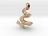 Spiral Heart Pendant 3d printed