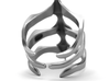Ring Two Spikes - Elegant modern adjustable 3d printed Aged silver option here: https://shop.pj3dartist.com/collections/jewelry/products/two-spikes-minimal-ring?