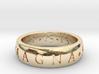 CUSTOM Sic Parvis Magna Ring 3d printed