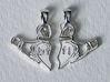 Claddagh Pendants 'Best Friends For Life' 3d printed Polished Silver