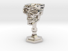 Chalice: Skull Chalice for 1:24 scale (1/2 scale) 3d printed