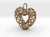 Mesh Heart  Pendant in Steel 3d printed