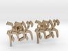 "Hebrew Name Cufflinks - ""Yaakov HaCohen"" 3d printed"