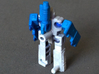 "MicroSlinger ""Squall"" 3d printed Squall robot mode, rear view."