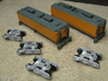 UP Water Tenders N Scale 1:160 Jim & Joe 3d printed Model by Mark Peterson