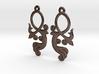 Crossing Tail Earring Set 3d printed