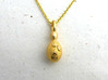 Saccharomyces Yeast Pendant - Science Jewelry 3d printed Saccharomyces pendant in polished gold steel