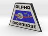Moonbase Alpha Plaque (Space: 1999) = DESKAPADES = 3d printed