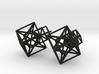 Entangled Hypercube Dangle Earring 3d printed