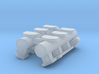 1/25 6x2 log intake, fits Revell '32 5w Hemi 3d printed