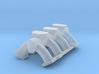 1/25 3x2 log intake, fits Revell '32 5w Hemi 3d printed