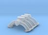 3x2 intake log, fits AMT Parts Pack Hemi 3d printed