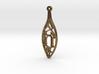 Personalised Voronoi Leaf Necklace (H) 3d printed Personalised Voronoi Leaf Necklace (H)