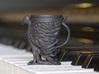 The Phoenix Mug 3d printed Small Mug Printed in Black HP Strong and Flexible (Beta material)