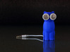 Kitty Cat Earbud Storage Case 3d printed A Blue Kitty Cat Bud-E. Front