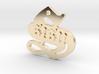 SISU (precious metal pendant) 3d printed
