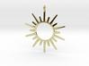 Sun Rays Pendant 3d printed