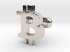Bitcoin Cufflink 3d printed